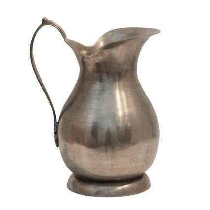 Pewter Jug with Flat Handle Large