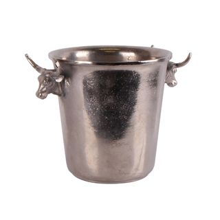 Bull Silver Ice Bucket