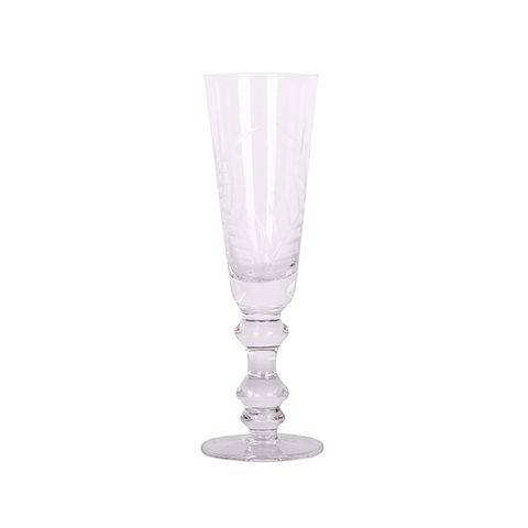 Leaf Cut Champagne Glass