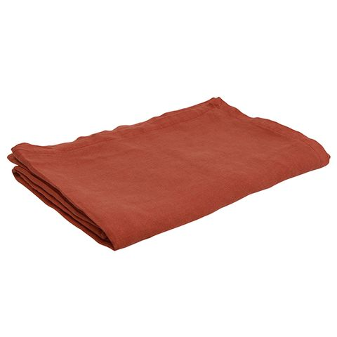 Everyday Linen Tablecloth Rust