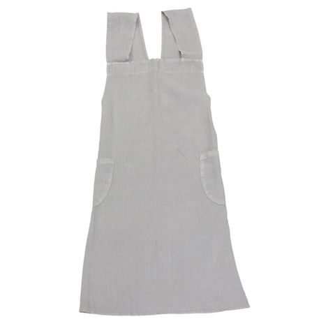 Cross Back Apron Grey Stonewashed Linen
