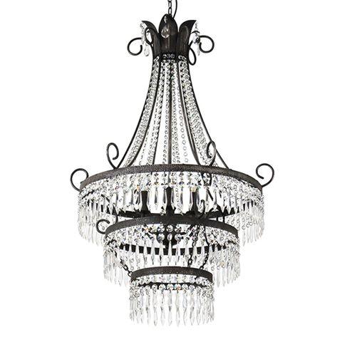 Diana 6 Light Cut Glass Chandelier