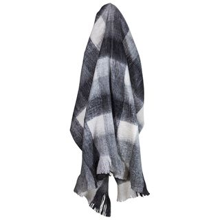 Plaid Black & White Throw