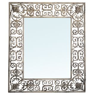 Romantique Rectangular Metal Mirror
