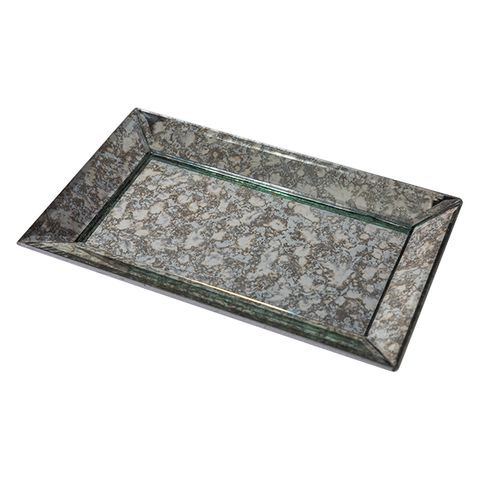 Antique Mirror Tray Large