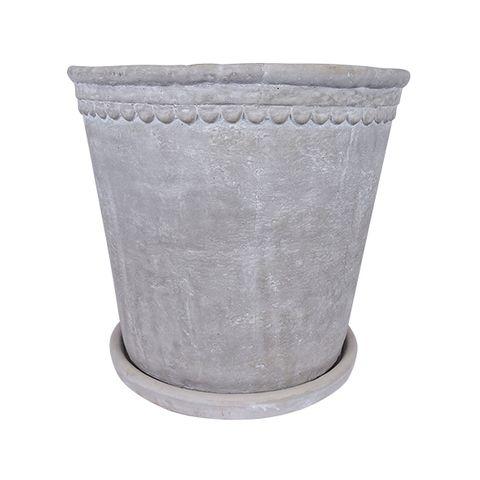 Scallop Planter Medium Grey