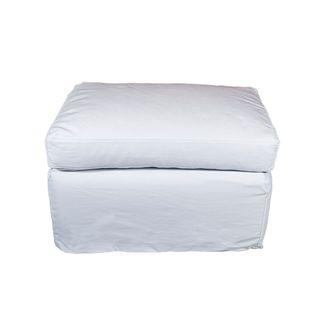 Dume Ottoman White Cotton