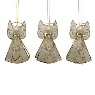 SET of 3 - Capiz Angel (Star, Heart, Bell)