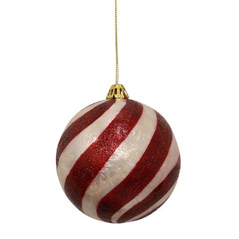 Capiz Swirl Ball Red