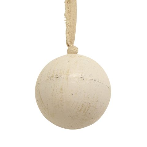 Wooden Ball White Large