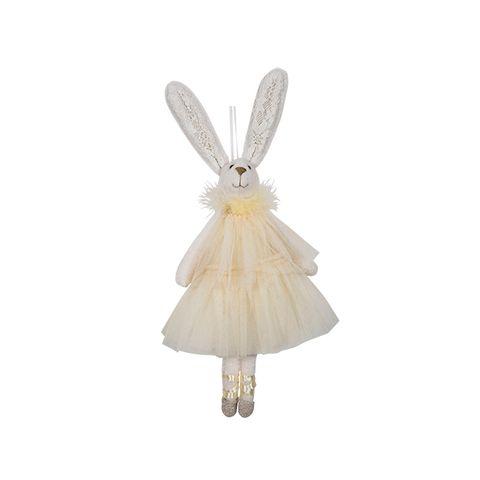 Ballerina Hanging Bunny Yellow Dress