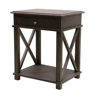 Villa Oak Bedside Table Ebony