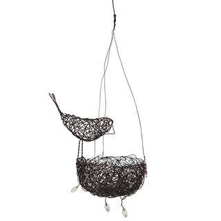 Wire Bird with Nest