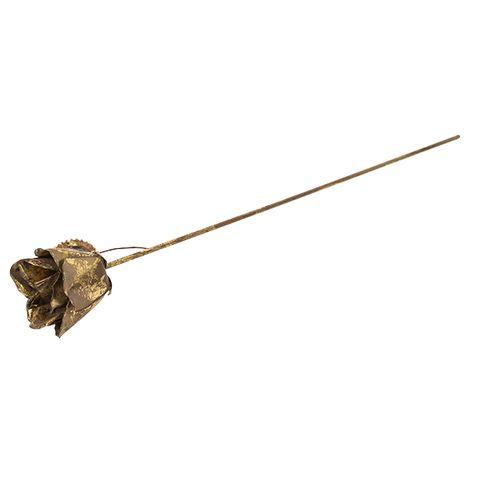 Aged Gold Metal Rose Bud