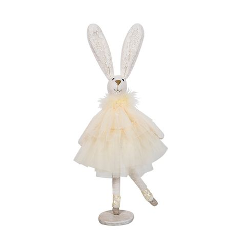 Ballerina Dancing Bunny Yellow Dress