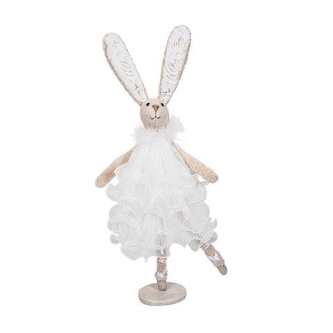 Ballerina Dancing Bunny White Dress