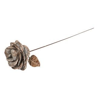 Aged Metal Open Rose Bud