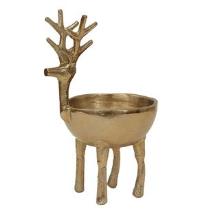 Reindeer Sweets Bowl Gold Large