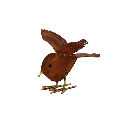 Decorative Rust Bird Large