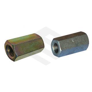 M10X40 Coupling nut Galv