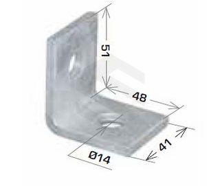 Angle Bracket 2 Hole 90°, 48x51mm HDG