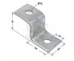 Z Shape Bracket, 3 Hole 54x41x41mm Galv