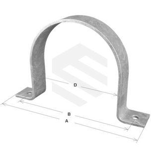 Saddle Clamp - Medium 80 Nomial Bore