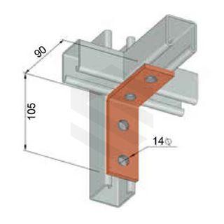 Angle Bracket 4 Hole 90°, 90x105mm HDG