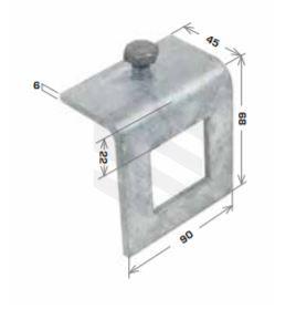 45X89mm Beam Clamp Window Bracket