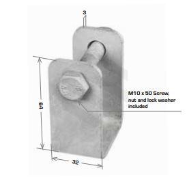 Hanger for FDG2676G w M10x50 Screw, Nut & Lock Washer