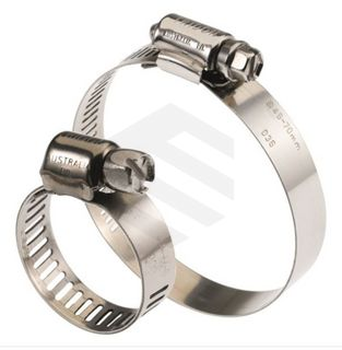TRIDON CLAMP S/S 316 PERFORATED BAND S/S 316 SCREW 46-70 MM