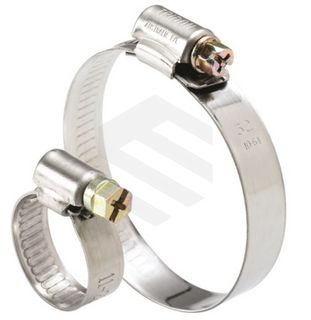 TRIDON CLAMP S/S 430 SOLID BAND ZP SCREW 21-38MM