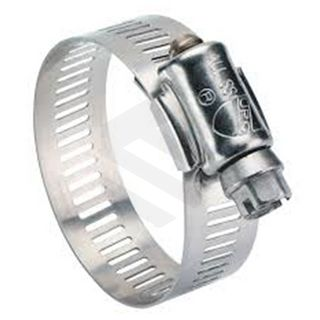 Hose clamp 10-16mm Non-perforated SS