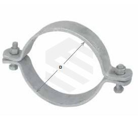 140mm Double Bolted Clamp Medium Galv