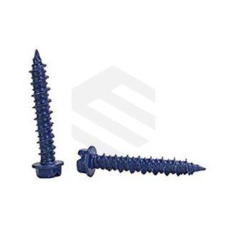 M6.5x55mm Hex Head Concrete.Screw Diamond Point Blue