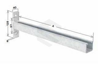 930mm Cantilever Bracket Braced HDG