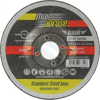 180 x 6.0mm Grinding Disc - Stainless Silver Series