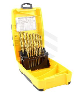 Alpha Tuffbox Drill Set Gold Series Metric 1.0 - 10.0mm 19pc