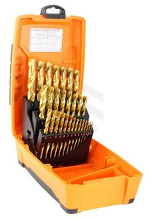Alpha Tuffbox Drill Set Gold Series Imperial 1/16 - 1/2 29 pce