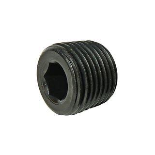 1-1/4 NPTF BSPT Taper Socket Pressure Plug BK