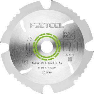 Festool Fibre Cement Blade 160MM X2.2/1.6X20 D164
