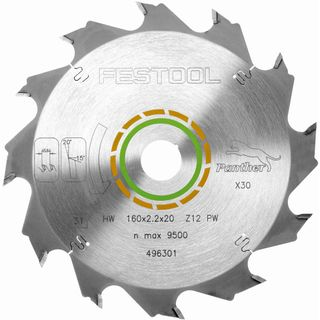 Festool Panther Saw Blade 160mm x 2.2mm x 20mm 12 tooth