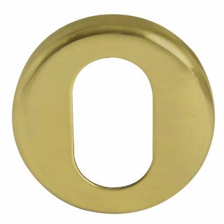 OVAL CYLINDER ESCUTCHEONS UNLACQUERED BRASS
