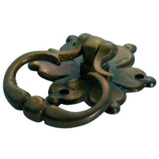 CABINET RING PULLS ANTIQUE BRASS