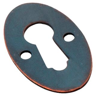 CUPBOARD LOCK ESCUTCHEONS ANTIQUE COPPER