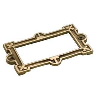 CARD HOLDER POLISHED BRASS