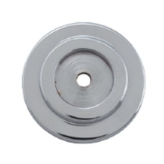 CABINET KNOB BACKPLATES CHROME PLATE