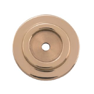 CABINET KNOB BACKPLATES POLISHED BRASS
