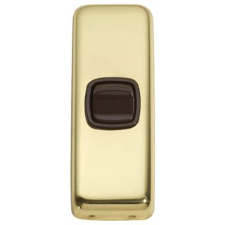 FLAT PLATE ROCKER RANGE POLISHED BRASS-BROWN