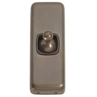 FLAT PLATE TOGGLE RANGE ANTIQUE BRASS